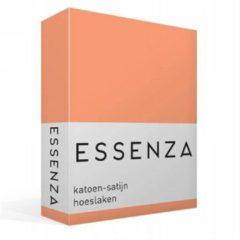Essenza Satin hoeslaken - 100% katoen-satijn - 1-persoons (90x210 cm) - Oranje, Peach