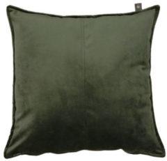 Overseas Middlestitch Velours Kussen Olive 45 x 45 cm