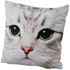 Dekokissen Katze Grau 40 x 40 cm
