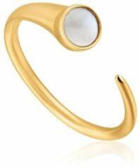 Goudkleurige Ania Haie Hidden Gem AH R022.02G Dames Ring One-size