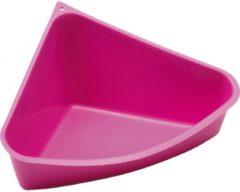 Gebr. de Boon Savic plastic knaagdiertoilet driehoek fuchsia