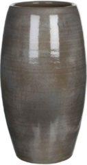 Edelman Montfoort Mica Decorations lester vaas rond donkergrijs maat in cm: 50 x 30 d.grey