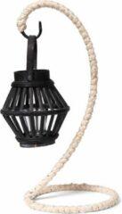 Naturelkleurige SENZA Bamboo Lantern Hanger Black