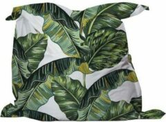 Groene YFS Zitzak Big Leaves - MEDIUM 135x135cm