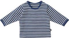 Blauwe Minymo Longsleeve Baby shirt Baby T-shirt Maat 74