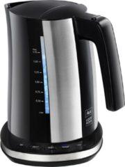 Melitta II Waterkoker Look Aqua/Deluxe (1,7 liter, 2400 watt) Zwart/RVS