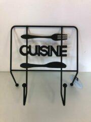Zwarte Merkloos / Sans marque Keuken accessoire voor kookboek - één stuk