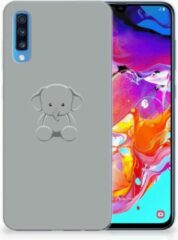 Samsung Galaxy A70 TPU Siliconen Hoesje Grijs Baby Olifant