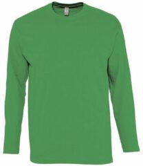 Groene T-Shirt Lange Mouw Sols MONARCH COLORS MEN