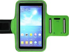 ADEL Sportarmband 5.5 Inch Microfiber Hoesje voor Huawei P9 (Plus) - Groen