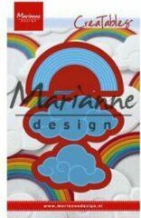 Blauwe Marianne Design Marianne D Creatable Regenboog en wolken LR0531 49x31 - 64x33mm