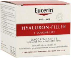 Eucerin Hyaluron-filler + Volume Lift Dagcreme Spf15 Creme Normale/gemengde Huid 50ml