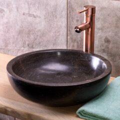 Saniclear natuursteen waskom set incl. hoge kraan koper