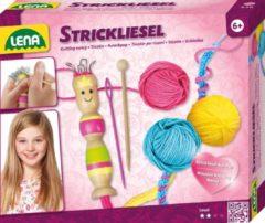 Lena punnikset meisjes hout/wol roze/geel/blauw 6-delig
