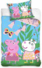 Peppa Pig Dekbedovertrek Vlinder - Eenpersoons - 140 X 200 Cm - Multi