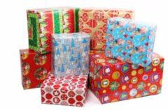 Bellatio Decorations 1x Kerst Kadopapier - 200 X 70 Cm - Cadeaupapier / Inpakpapier