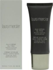 Huidskleurige Laura Mercier Silk Crème Oil Free Photo Edition foundation - Sand Beige