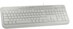 Witte Microsoft Wired 600 - Toetsenbord - Qwerty - Wit