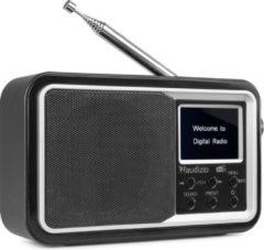 Draagbare DAB radio met Bluetooth - Audizio Parma - wekkerradio - FM radio - retro radio - Zwart