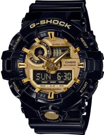 Afbeelding van Casio G-SHOCK Standard Analoog-Digitale Horloge GA-710GB-1A - Zwart