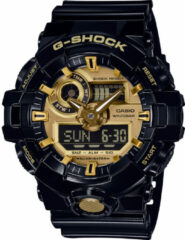 Casio Quartz Horloge GA-710GB-1AER (l x b x h) 57.5 x 53.4 x 18.4 mm Zwart Materiaal (behuizing): Hars Materiaal (armband): Hars