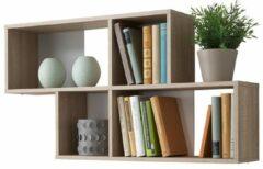 FD Furniture Wandrek Lendy 100 cm breed eiken met wit