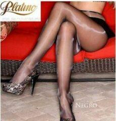 Platino Cleancut 15 zwarte glanspanty - Zwart