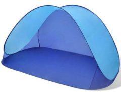 """Blauwe """"vidaXL Opvouwbare strandtent, waterafstotend en met UV bescherming lichtblauw"""""""