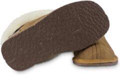 Bruine Texelana sloffen en pantoffels voor dames & heren - pantoffel van schapenvacht - model Texla - maat 42