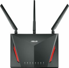 Rode ASUS RT-AC86U draadloze router Dual-band (2.4 GHz / 5 GHz) Gigabit Ethernet Zwart