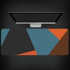 Blauwe Merkloos / Sans marque SUPER Grote Muismat 80x30 | Gaming Muismat | Mousepad | Pro Muismat XXL | Antislip | Desktop Mat | Wereldkaart | Computer Mat, patroon