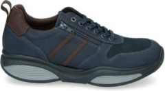 Blauwe Xsensible Stretchwalker Mannen Leren Sneakers - 30073.2 - 42 1/2