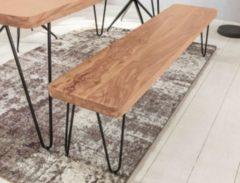 Wohnling Esszimmer Sitzbank BAGLI Massiv-Holz Akazie 180 x 45 x 40 cm Holz-Bank Natur-Produkt Küchenbank im Landhaus-Stil