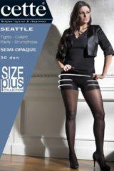 Zwarte Cette panty Seattle Size Plus figuurcorrigerend 30 Den D 760-10-Noir-4XL