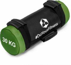 Groene #DoYourFitness® - Core Bag / Gewicht Bag »Carolous« van 5 kg tot 30 kg - 2 handgrepen en 1 riem - Kracht / fitness bag voor kracht-, uithoudings-, gevechts- en coördinatietraining - 30kg