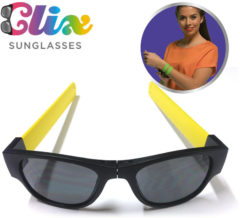 Clix Opvouwbare Zonnebril - Zwart/Geel