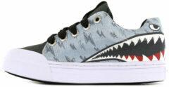 Blauwe Go Bananas sneakers Sharkattack (GB SHARKATTACK-L). Maat 22