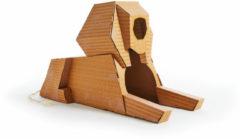 Poopy Cat Sphinx Speelhuis - Krabpaal - 82x36x60 cm Geel Bruin