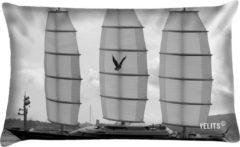 Grijze Velits outdoor Buitenkussen Men in Black zwart wit waterafstotend 40x60cm Schip Falcon