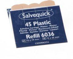 Salvequick navulling voor pleisterautomaat, plastic pleisters, pak van 6 navullingen