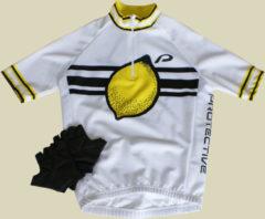 Protective Kids Set Kinder Fahrrad Bekleidung Größe 128 lemon
