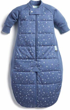 Afbeelding van Blauwe Ergopouch Babyslaapzak met beentjes Night Sky 2.5 TOG - 3-12mnd (80cm)