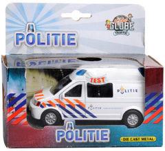 Kids Globe - Politie - Volkswagen Transporter -Wit - met licht en geluid