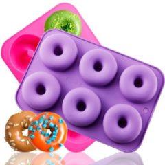 Paarse Siliconen donutvorm | Zelf donuts maken | Donut maker | Donut vorm | Donut bakvorm | SuperEasyCommerce | Random kleur