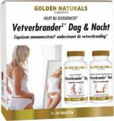 Golden Naturals Vetverbrander Dag & Nacht (2 x 30 veganistische tabletten)