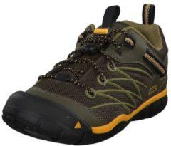 Schuhe Chandler CNX Youth 1012499 mit Schnellschnürystem Keen DARK OLIVE/CITRUS