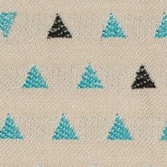 Blauwe Agora -trian Ivy 3929 stof per meter buitenstoffen, tuinkussens, palletkussens