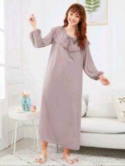 Merkloos / Sans marque MKL - Dames Pyjama / Schattig Slaapkleed - Gewaad - Sexy Lingerie - Kimono/ Nachtjapon - Elegant katoen nachtjurk - Ochtendjas - Gewaad of nachtjurk - Nachthemd - Koninklijk Nacht jurk -Nachtkleding - Maat S
