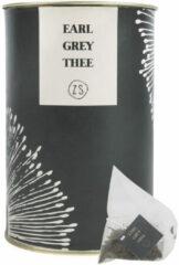 Zusss Decoratieve objecten Thee In Luxe Koker Earl Grey Grijs