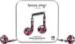 Happy Plugs Earbud Plus - In-ear oordopjes - Roze/zwart gebloemd